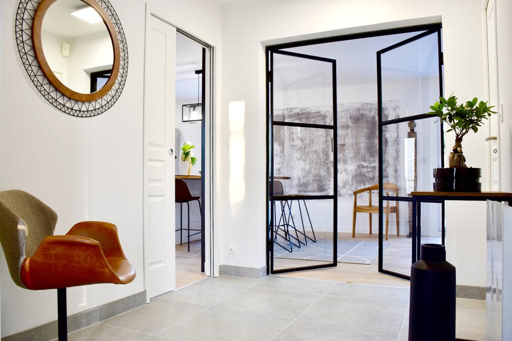 savoir-faire rénovation et création d'un style design et contemporain dans une maison Rouennaise