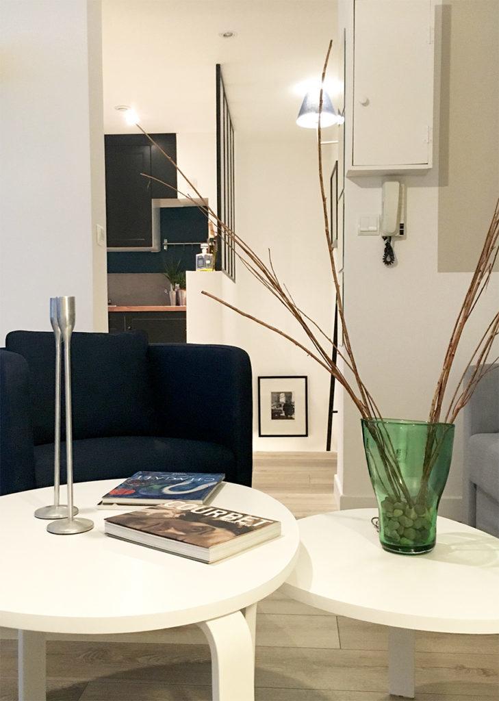 Réhabilitation d'un sous sol en appartement souplex design et pratique dans une maison proche de Rouen